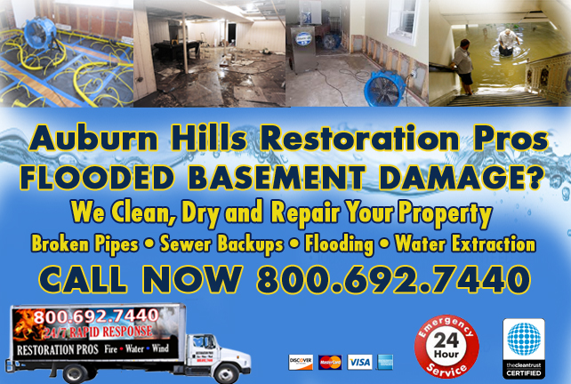 Auburn Hills Flooded Basement Cleanup