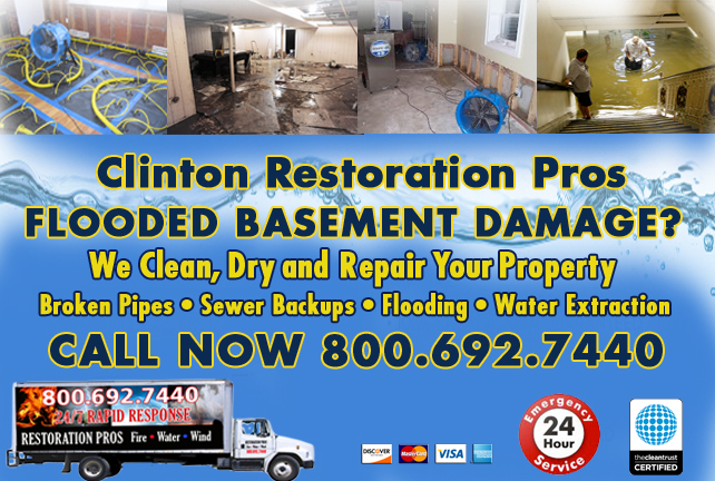 Clinton Flooded Basement Cleanup