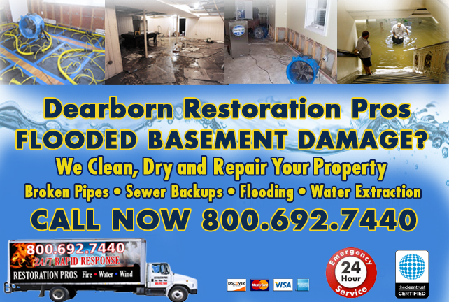 Dearborn Flooded Basement Cleanup