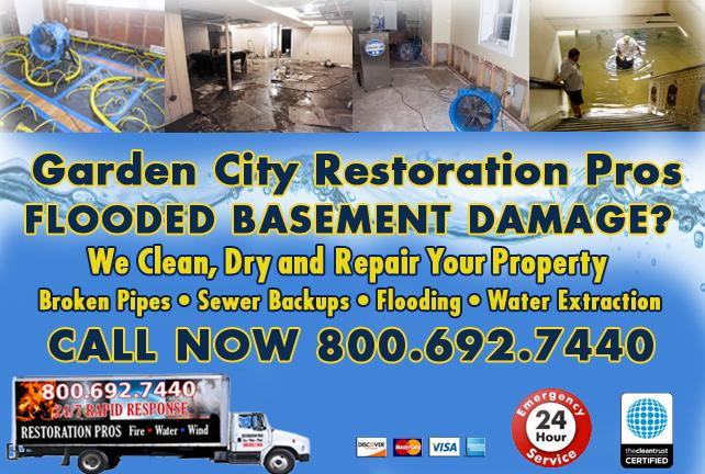 Garden City Flooded Basement Cleanup