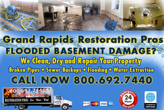 Grand Rapids Flooded Basement Cleanup