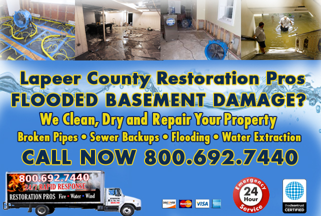 Lapeer County Flooded Basement Cleanup