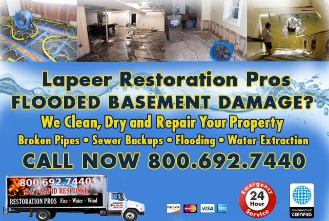 flooded basement cleanup lapeer michigan emergency services