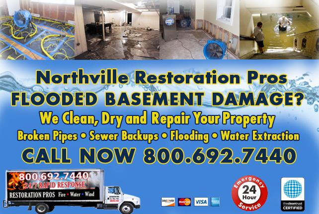 Northville Flooded Basement Cleanup