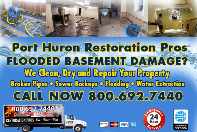 Port Huron Flooded Basement Cleanup