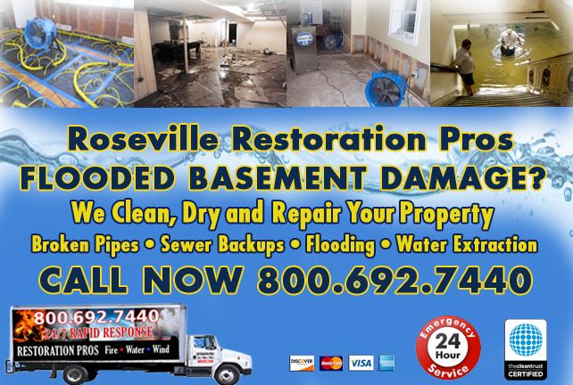 Roseville Flooded Basement Cleanup