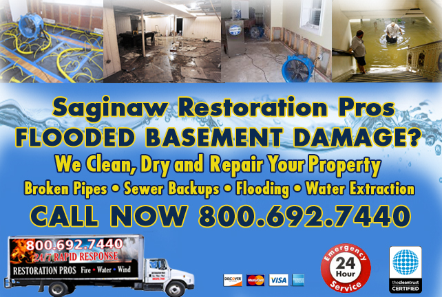 Saginaw Flooded Basement Cleanup