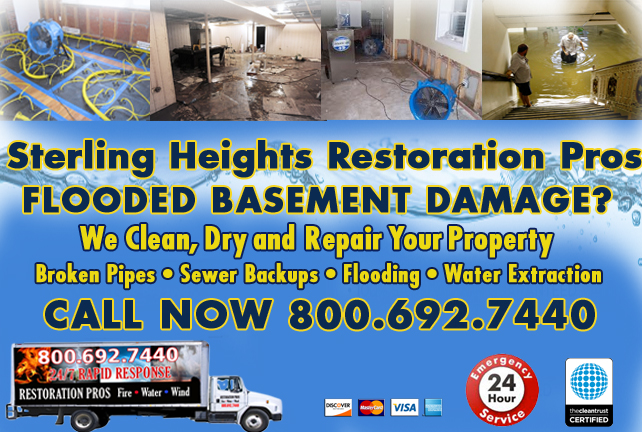 Sterling Heights Flooded Basement Cleanup