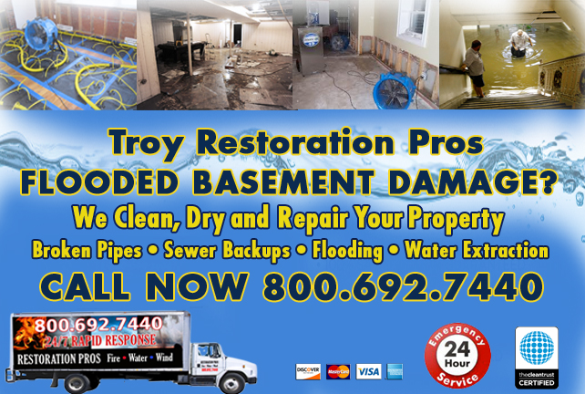 Troy Flooded Basement Cleanup