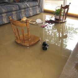 living room flood