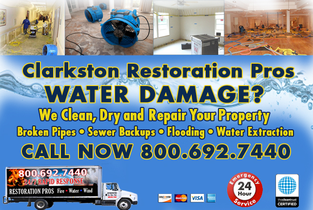 Clarkston water repair