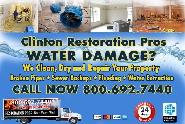 Clinton water repair