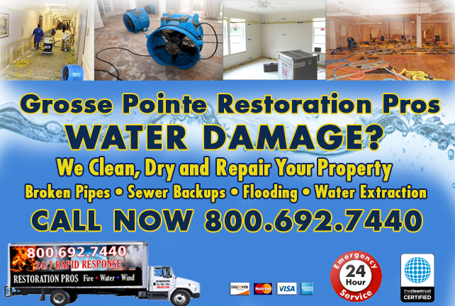 grosse pointe water damage restoration