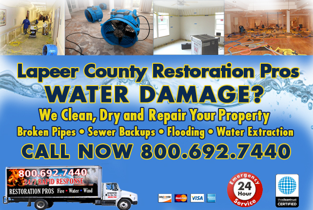 Lapeer County water repair