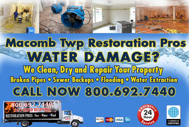 Macomb Township water repair