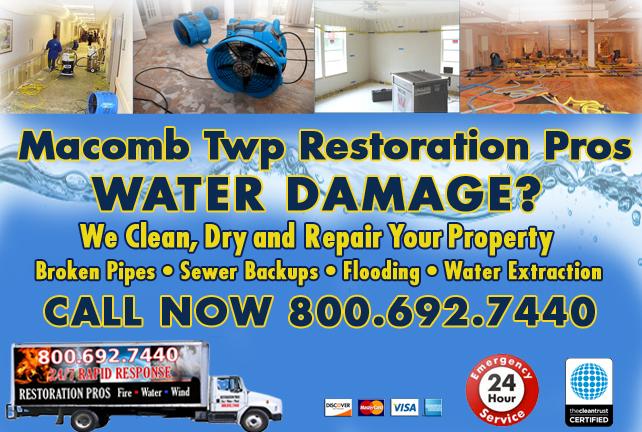 Macomb Township water repair