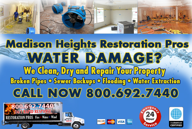 Madison Heights water repair