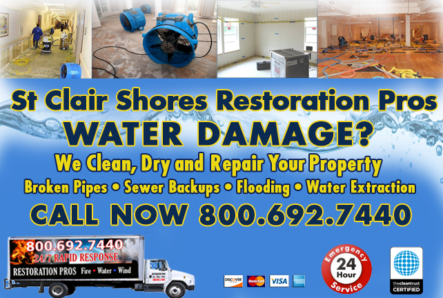 St Clair Shores water repair
