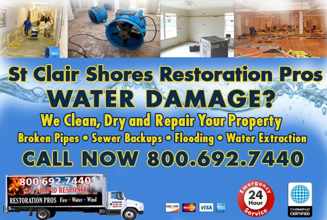 St Clair Shores water repair
